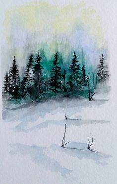 "Original Watercolor Painting- ""Wintergreen"""