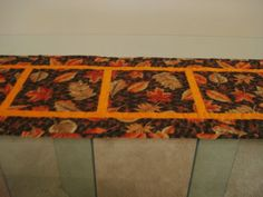 Handmade Quilted Autumn Harvest Table Runner 17 x by MurphysHouse,