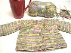 CrazyAuntPurl: Don't fall over or anything, but Co-worker Baby Sweater #2 ... is finished! Finito! Exclamation point!