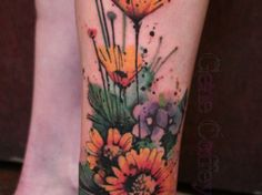 Best Watercolor tattoo - Watercolor Tattoo...