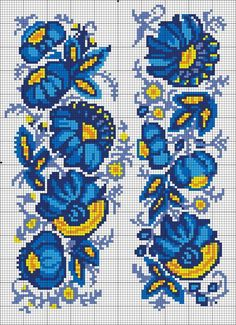 This Pin was discovered by Еле Mini Cross Stitch, Cross Stitch Borders, Cross Stitch Flowers, Cross Stitching, Cross Stitch Embroidery, Hand Embroidery, Cross Stitch Patterns, Embroidery Patterns Free, Loom Patterns
