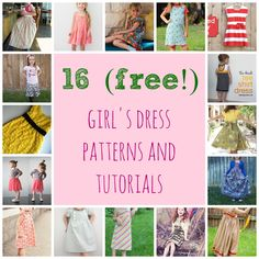 Domestic Bliss Squared: 16 (free!) girls dress patterns and tutorials