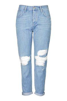 MOTO Bleach Rip Hayden Boyfriend Jeans