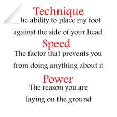 Technique, Speed, Power ;=_