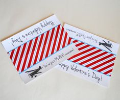 You're Just Plane Awesome Folded Favor Treat Tags