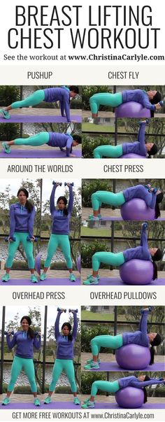 workout routine for teens Chest Workout for Women - Breast Lifting Chest Exercises for perkier breasts Fitness Humor, Fitness Workouts, Weight Lifting Workouts, Fitness Style, Weight Training, Ab Workouts, Fitness Plan, Training Tips, Weight Lifting For Women