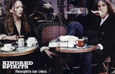 """Belgian designer Ann Demeulemeester and Patti Smith """"Kindred Spirits"""" photo by Annie Leibovitz"""