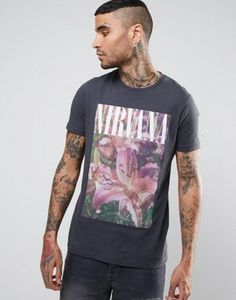 ASOS Vintage Nirvana Floral Band T-Shirt