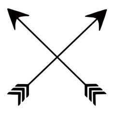 """Did you know that crossed arrows are a Native American symbol for friendship? Well now you do! Black temporary tattoo. Sheet Size: 2"""" x 2"""" - Lasts 5-7 days even with swimming and bathing! - Easy to pu"""