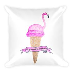 """Flamingo Flavor"" Pillow"