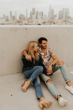 Feb 2020 - This downtown LA engagement shoot was a joy to do with such a fun-loving and goofy couple! There's nothing like that Los Angeles skyline in view! Rooftop Photoshoot, Couple Photoshoot Poses, Couple Photography Poses, Couple Posing, Couple Shoot, Engagement Photography, Photoshoot Ideas, Creative Couples Photography, Photography Photos