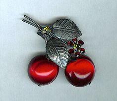 Vintage Cherry Broch