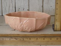 Vintage Nelson McCoy Planter in Pastel Pink by METALTOLACE on Etsy, $40.00