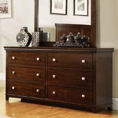 Dunhill Transitional Style Brown Cherry Finish Bedroom Dresser  http://www.furnituressale.com/dunhill-transitional-style-brown-cherry-finish-bedroom-dresser/