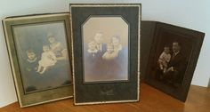 Cabinet Photo Family Portrait Children Parents Photograph Lot 3 Vintage Antique