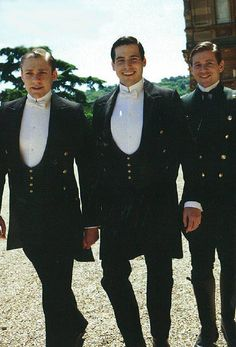 Downton Abbey: thomas, william, and branson: Rob James-Colier, Allen Leech, and Thomas Howes Branson Downton Abbey, Period Movies, Period Dramas, Rob James-collier, Julian Fellowes, Downton Abbey Fashion, Gentlemans Club, Lady Mary, Actor