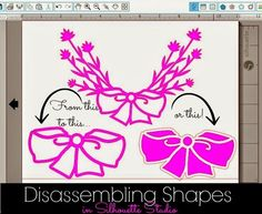 Disassembling Silhouette Shapes to Use Part of a Design ~ Silhouette School