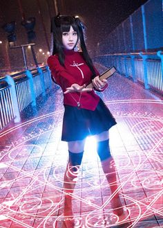 Cute Cosplay- Rin Tosaka Of Fate Stay Night