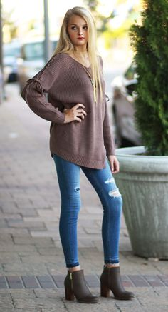 Open Directions Mocha Sweater from Cousin Couture.
