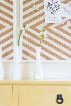 Pinnwand selber machen wandgestaltung basteln ideen