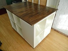 little corner house: Ikea Hack: Expedit cutting table - wonder if I could talk my husband into making this for me...