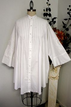Adorable oversized Plus size shirt in White Quality Cotton with embroidery details and much more XL TO 5XL