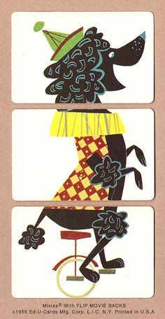 La verdad es que estos puzzles de tres piezas son ideales para los primeros ensayos recortando con las tijeras, ya que con unos pocos corte... Wooden Blocks Toys, Vintage Playmates, Puppy Cut, Tea Cup Poodle, Retro Illustration, Animal Sketches, Paper Toys, Antique Shops, Card Games