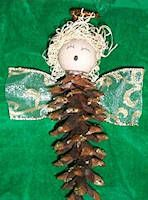 Cristy's Pine Cone Angel Craft