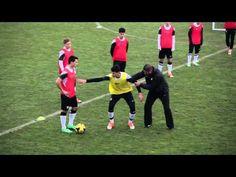Nike Academy Defending Body Position 1080p - YouTube