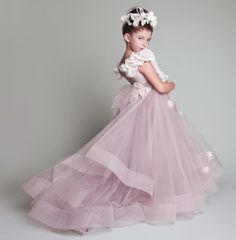 Cheap Girls Pageant Dresses Buy Quality Flower Girl Dresses Directly From China Pageant Dresses Suppliers  New Lovely New Tulle Ruffled Handmade