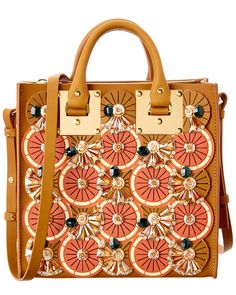 Spotted this Sophie Hulme Summer Citrus Albion Square Leather Tote on Rue La La. Shop (quickly!).