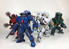 LEGOCustom LEGO Jaegers and Kaiju are glorious photo - I wish Crimson Typhoon was closer to the front!