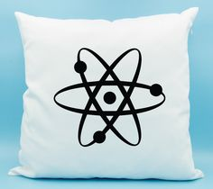 Wooden Big Bang Theory atomic keychain. Our whole universe was in a hot, dense state...  For the geek in all of us, this atom keychain proclaims our love of science. And Big Bang Theory!  The pillow cover is made of 100% white cotton twill and features a hidden zipper. You may purchase the pillow cover with or without the pillow insert. The insert filling is made of 100% fire retardant polyester fiber and is made in the USA. The pillow form measures 16 x 16 and this cover is made to fit it…