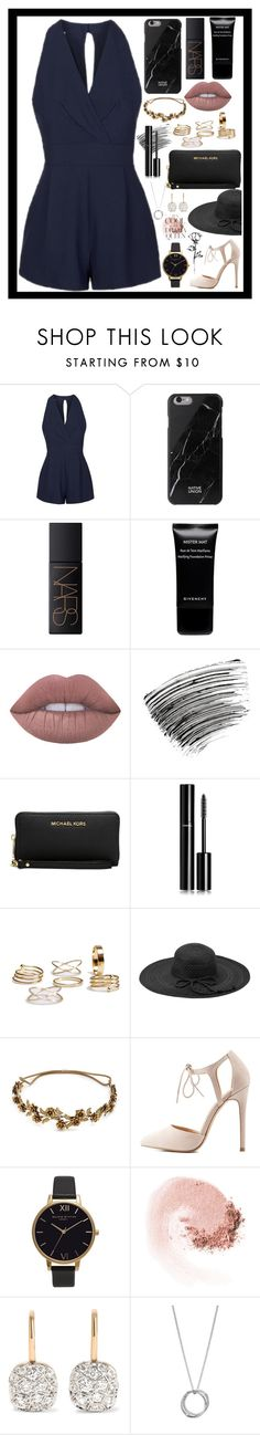 """""""Classy and fabulous!"""" by rhiannonpsayer ❤ liked on Polyvore featuring Topshop, Native Union, NARS Cosmetics, Givenchy, Lime Crime, Bobbi Brown Cosmetics, Michael Kors, Chanel, Fits and Jennifer Behr"""