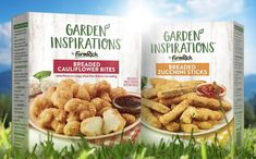 Farm Rich unveils new plant-based snack and appetiser options - FoodBev Media Zucchini Sticks, Cauliflower Bread, Cauliflower Bites, Plant Based Snacks, Plant Based Recipes, Halal Snacks, New Farm, Food Packaging Design, Frozen Vegetables