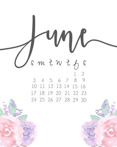 June 2018 iPhone Floral Calendar