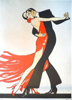 Rene Gruau's artwork titled Tango presented by Artophile