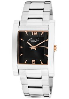 Price:$44.23 #watches Kenneth Cole KC9144, A twist of modernity with a touch of style. This Kenneth Cole timepiece will collectively match any suit for a night out in town.