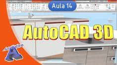 Curso de AutoCAD 3D - Aula 14/25 - Edição de Sólidos ( Gabinete ) - Auto...
