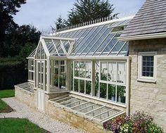 kallbänk till viktorianska växthus