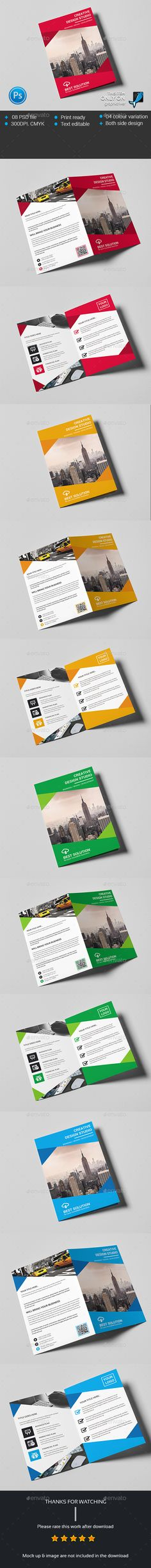 Corporate Business Bi-fold Brochure Template PSD #design Download: http://graphicriver.net/item/corporate-business-bifold-brochure/13948978?ref=ksioks
