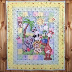 Cute and Cuddle Baby Zoo Animals Quilt for by CountryTrlCollection, $75.00.