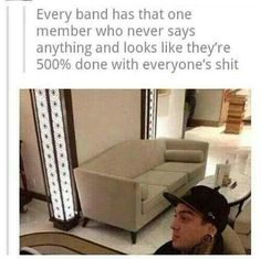Tony Perry:) probably spencer in panic and andy in fob, they're pretty intimidating.:b<<Don't forget Mikey Way