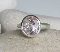 Lilac Engagement Ring Bridal Ring Gemstone Ring Unique by Belesas