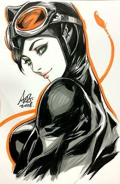 Art Vault — Catwoman by Artgerm Comic Book Characters, Comic Character, Comic Books Art, Comic Art, Character Design, Batman Und Catwoman, Batman Art, Heros Comics, Comics Girls