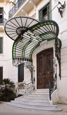 Gregorio Botta 1912 Villa Pappone, Naples, Italy Photo by Andrea Speziali Art Nouveau in Naples