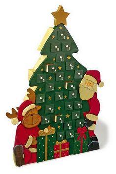 Wooden Advent Calendar 'Christmas Tree'