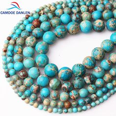Cheap Beads, Buy Directly from China Suppliers:CAMDOE DANLEN Natural Stone Lake Blue Sea Sediment Turquoises Imperial Jaspers Beads 4/6/8/10/12MM Diy Beads For Jewelry Making Enjoy ✓Free Shipping Worldwide! ✓Limited Time Sale✓Easy Return. Fashion Jewelry Necklaces, Body Jewelry, Beaded Jewelry, Cheap Beads, Natural Stone Jewelry, Bridal Jewelry Sets, Jewelry Packaging, Diy Necklace, Jewelry Making Beads