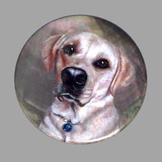 HAND PAINTED BEAGLE DOG NATURAL MOTHER OF PEARL SHELL DIY PENDANT ZP30 00511 #ZL #PENDANT