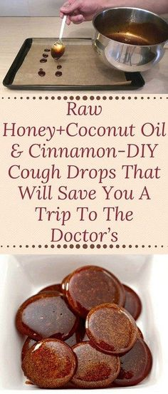 Raw honey + coconut oil & cinnamon-DIY cough drops that will give you a trip to . - Raw honey + coconut oil & cinnamon DIY cough drops that will give you a trip to … - Natural Health Remedies, Natural Cures, Herbal Remedies, Natural Healing, Natural Treatments, Natural Cough Remedies, Natural Foods, Natural Beauty, Natural Products